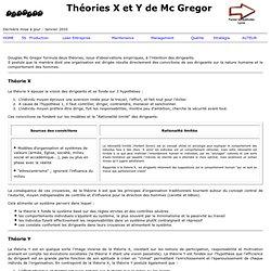 Theories X et Y Mc Gregor