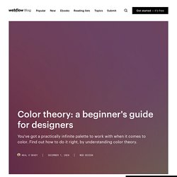 Color theory: a beginner's guide for designers