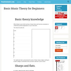 Basic Music Theory for Beginners | PlayGTR.net Free Video Guitar Lessons