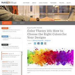 Color Theory 101: How to Choose the Right Colors for Your Designs