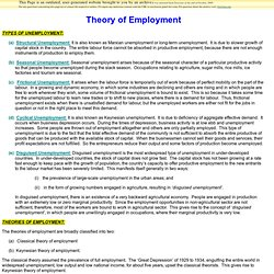 Theory of Employment