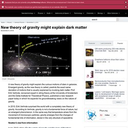 New theory of gravity might explain dark matter