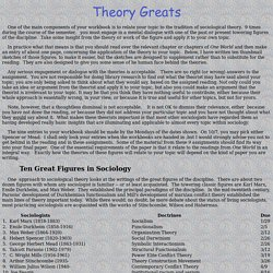 Theory Greats