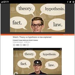 Watch: Theory vs hypothesis vs law explained