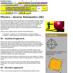 3D Theory - Inverse Kinematics - Joints