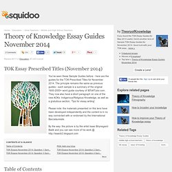 Tok essay knowledge issues