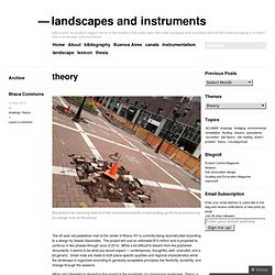 landscapes and instruments
