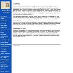 Theory (Phonics on the Web)