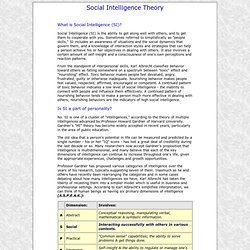 Theory of Social Intelligence