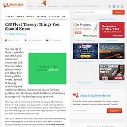 CSS Float Theory