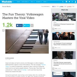 The Fun Theory: Volkswagen Masters the Viral Video