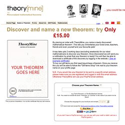 TheoryMine | Name a Theorem