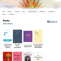 Books - Theosophical Society in America
