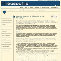 Théosophie de Blavatsky