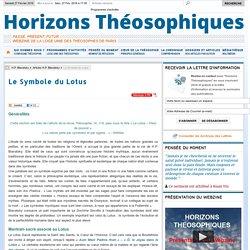 Horizons Théosophiques - Webzine de la Loge Unie des Théosophes de Paris