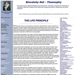 "Theosophy article: ""The Life Principle"" by Blavatsky"