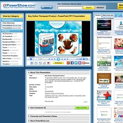 Buy Online Therapearl Product PowerPoint presentation