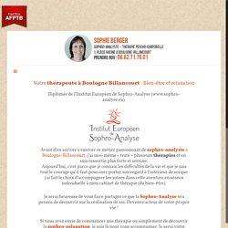 Thérapeute boulogne billancourt 92100 Sophie Berger
