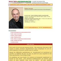Gaétan Larocque, Psychothérapeute, Laval