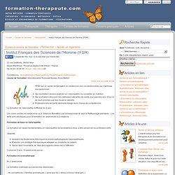 Formation Thérapeute - Naturopathie - Institut Français des Sciences de l'Homme (IFSH)