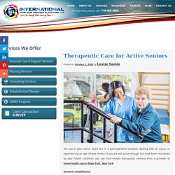 Therapeutic Care for Active Seniors