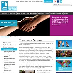 Therapeutic casework - Asylum Seekers UK - Refugee Council