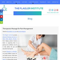 Therapeutic Massage for Pain Management