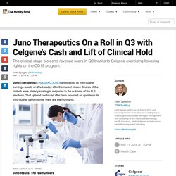 juno-therapeutics-on-a-roll-in-q3-with-celgenes-ca