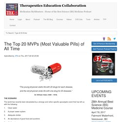 The Top 20 MVPs (Most Valuable Pills) of All Time
