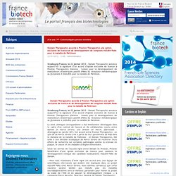 Domain Therapeutics accorde à Prexton Therapeutics une option exclusive de licence et de développement de composés mGluR4 PAMs pour la maladie de Parkinson