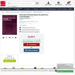 Education thérapeutique du patient en.... Catherine Beauvais - Decitre - 9782224033446