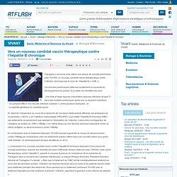 Vers un nouveau candidat vaccin thérapeutique contre l'hépatite B chronique