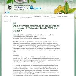 La Fondation Beljanski d'encourager la continuation des recherches entreprises par le biologiste moleculaire Mirko Beljansk
