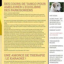UNE EXPÉRIENCE THÉRAPEUTIQUE : LA MUSICOTHÉRAPIE AU SERVICE DES PARKINSONIENS - sosparkinson