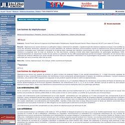 Médecine thérapeutique / Pédiatrie. Volume 3, Numéro 5, Septembre - Octobre 2000 Les toxines du staphylocoque