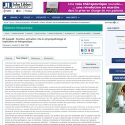 Médecine thérapeutique - NF-kappaB : fonction, activation, rôle en physiopathologie et implication en thérapeutique