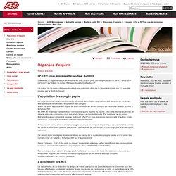 CP et RTT en cas de mi-temps thérapeutique - Avril 2010 - Réponses d'experts ADP