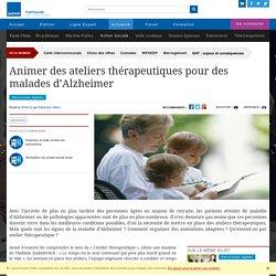 Animer des ateliers thérapeutiques pour des malades d'Alzheimer