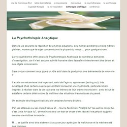 la therapie analytique