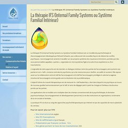 La thérapie IFS (Internal Family Systems ou Système Familial Intérieur) - Eaux Vives asbl