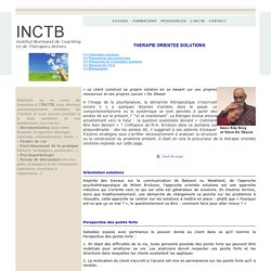 Thérapie orientée solutions - Caen - INCTB