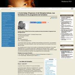 L'école belge d'hypnose et de thérapies brèves. Les formateurs et le programme de formation