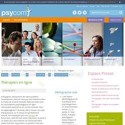 Thérapies en ligne - Santé mentale de A à Z - Espace Presse