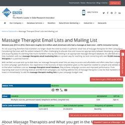 Massage Therapist Email List