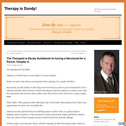 The Therapist is Dandy Guidebook to having a Narcissist for a Parent. Chapter 4.