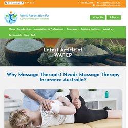 Why Massage Therapist Needs Massage Therapy Insurance Australia