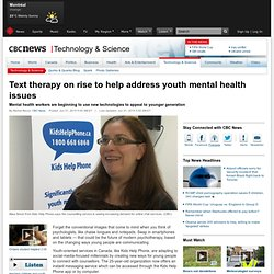 Text therapy on rise to help address youth mental health issues