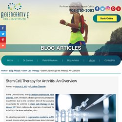 Stem Cell Therapy for Arthritis: An Overview