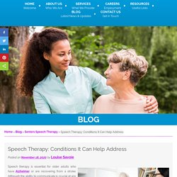 Speech Therapy: Conditions It Can Help Address