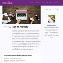 Social anxiety counselling - Pinkymind